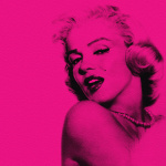 Marilyn in Pink giclee art print