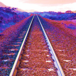 On the Rails giclee art print