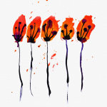 Poppies giclee art print