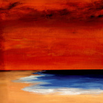 Red Sunset giclee art print