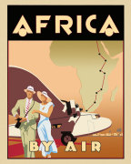 Africa by Air giclee art print