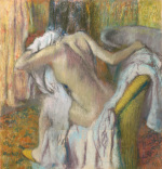After the Bath, Woman drying herself giclee art print