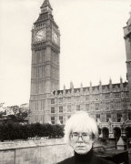 Andy Warhol and Big Ben, 1986 giclee art print