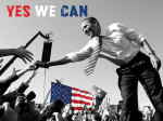 Barack Obama: Yes We Can (crowd) giclee art print