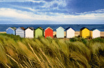 Beach Huts, Southwold art print