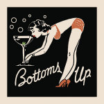 Bottoms Up giclee art print