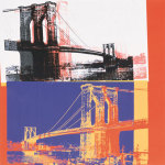 Brooklyn Bridge, 1983 (black bridge white background) giclee art print