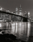 Brooklyn Bridge with World Trade Center giclee art print