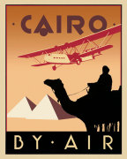 Cairo by Air giclee art print