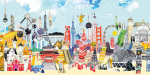 China London art print