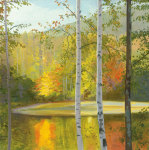 Cooper Lake, Autumn giclee art print