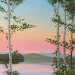 Cooper Sunset Birches giclee art print