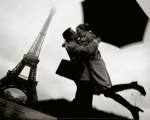 Couple a Paris art print