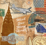 Destination, New York art print