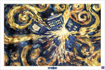 Doctor Who - Exploding Tardis art print
