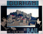 Durham - It's Quicker by Rail art print