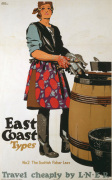 East Coast Types - Scottish Fisher Lass art print