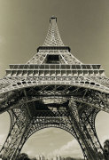 Eiffel Tower Looking Up giclee art print