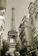 Eiffel Tower Street View Nr.1 giclee art print
