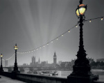 England, London: Evening over Houses of Parliament I art print