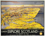 Explore Scotland - Map art print