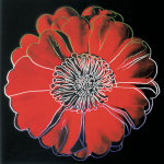 Flower for Tacoma Dome, c. 1982 (black &amp; red) giclee art print