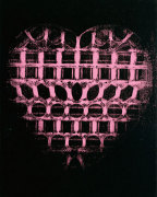 Heart, c. 1979-84 (pink, patterned on black) giclee art print