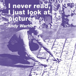 I never read, I just look at pictures (color square) giclee art print