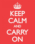 Keep Calm and Carry On (Red) art print