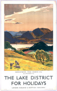Lake District - Derwentwater from Keswick Hill art print