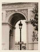 Lamp and Arc de Triomphe giclee art print