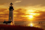 Lighthouse at Sunset giclee art print