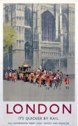 London - St Paul's Royal Procession art print