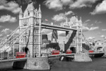 London - Tower Bridge Buses art print