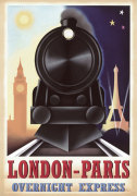 London-Paris Overnight Express giclee art print