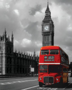 London Red Bus art print
