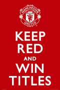Manchester United - Keep Red art print