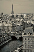 Paris Rooftops giclee art print