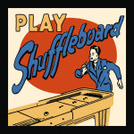 Play Shuffleboard giclee art print
