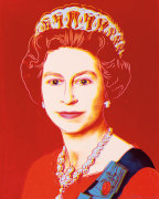 Reigning Queens: Queen Elizabeth II of the United Kingdom, 1985 (light outline) giclee art print