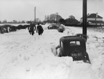 Road blocked by snow, Kent 1952 giclee art print