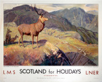 Scotland for Holidays - Deer Stalking art print