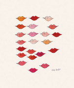 Stamped Lips, c. 1959 giclee art print