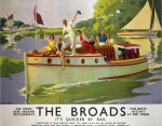 The Broads - It's Quicker by Rail art print