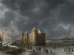 The Castle of Muiden in Winter giclee art print