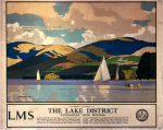 The Lake District - Windermere from Bowness art print