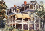 The Mansard Roof, 1923 art print