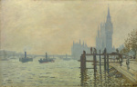 The Thames below Westminster giclee art print