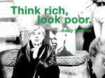 Think rich, look poor giclee art print