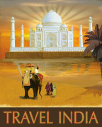 Travel India giclee art print